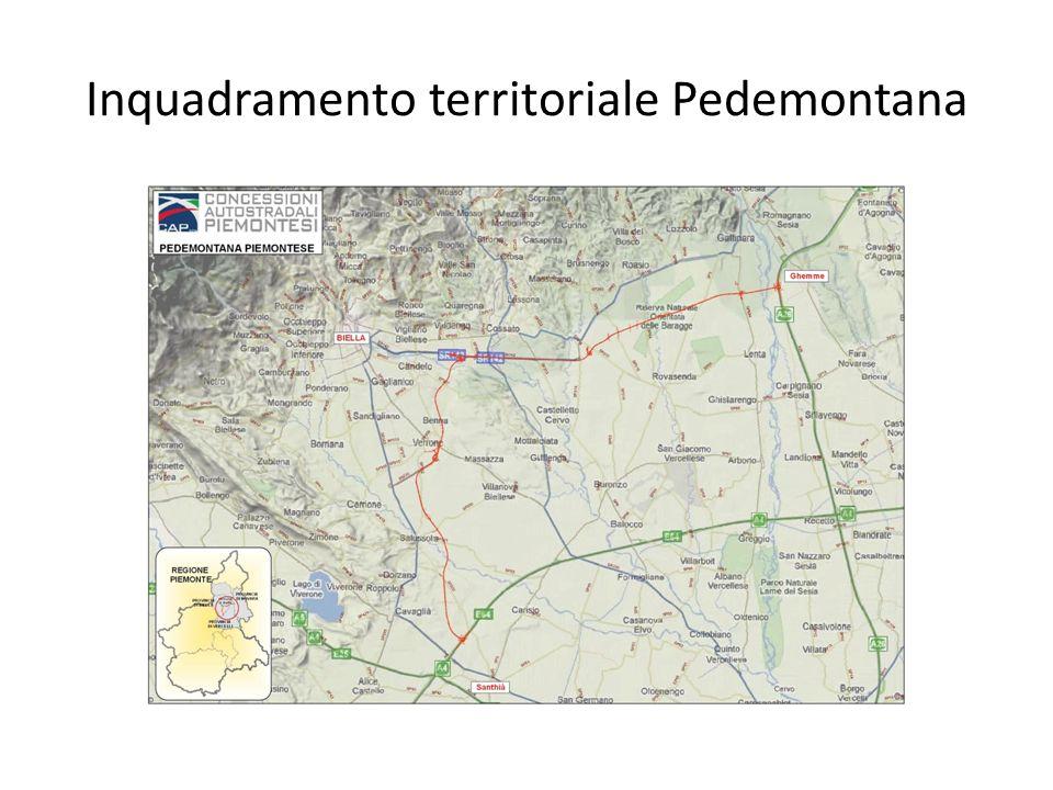 Inquadramento territoriale Pedemontana