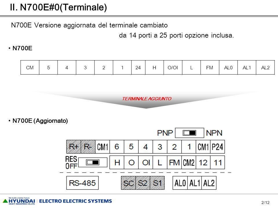 2/12. N700E#0(Terminale) N700E CM5432124HO/OILFMAL0AL1AL2 N700E (Aggiornato) TERMINALE AGGIUNTO N700E Versione aggiornata del terminale cambiato da 14
