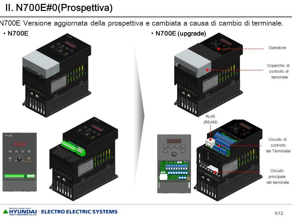 3/12. N700E#0(Prospettiva) N700E N700E (upgrade) N700E Versione aggiornata della prospettiva e cambiata a causa di cambio di terminale. Circuito princ