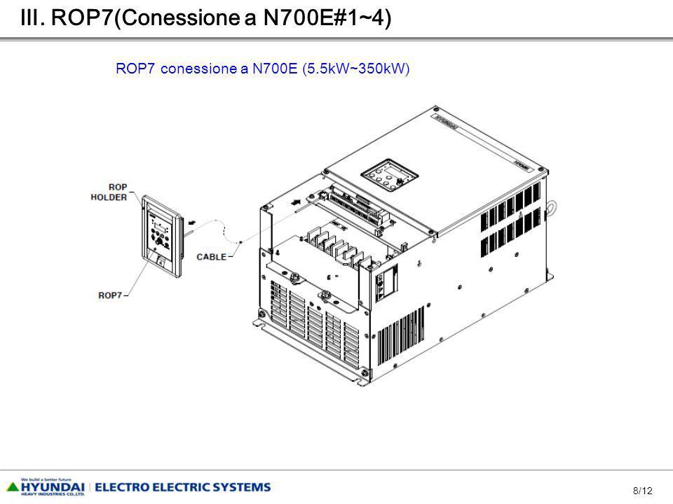8/12 ROP7 conessione a N700E (5.5kW~350kW). ROP7(Conessione a N700E#1~4)