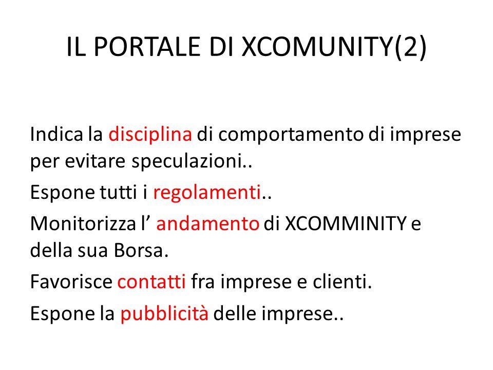 IL PORTALE DI XCOMUNITY(2) Indica la disciplina di comportamento di imprese per evitare speculazioni..