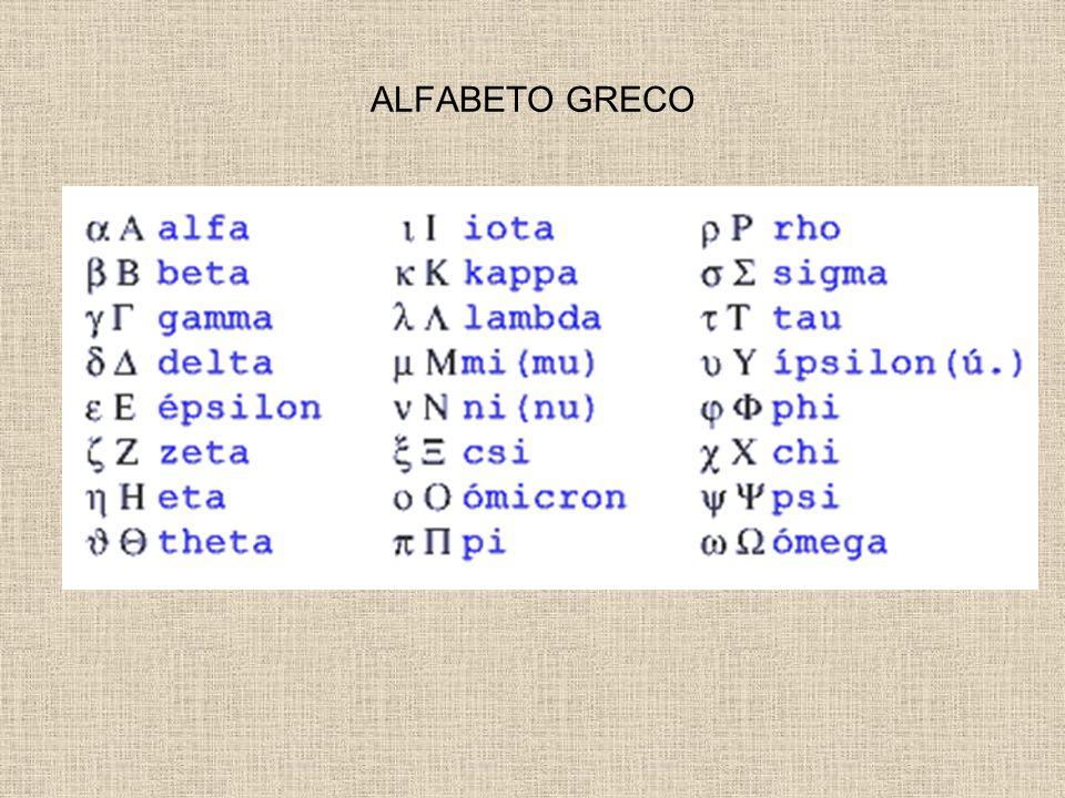 ALFABETO GRECO