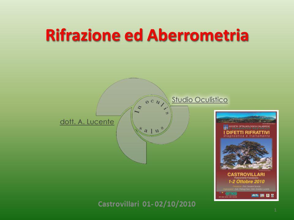 Rifrazione ed Aberrometria 1 Castrovillari 01- 02/10/2010