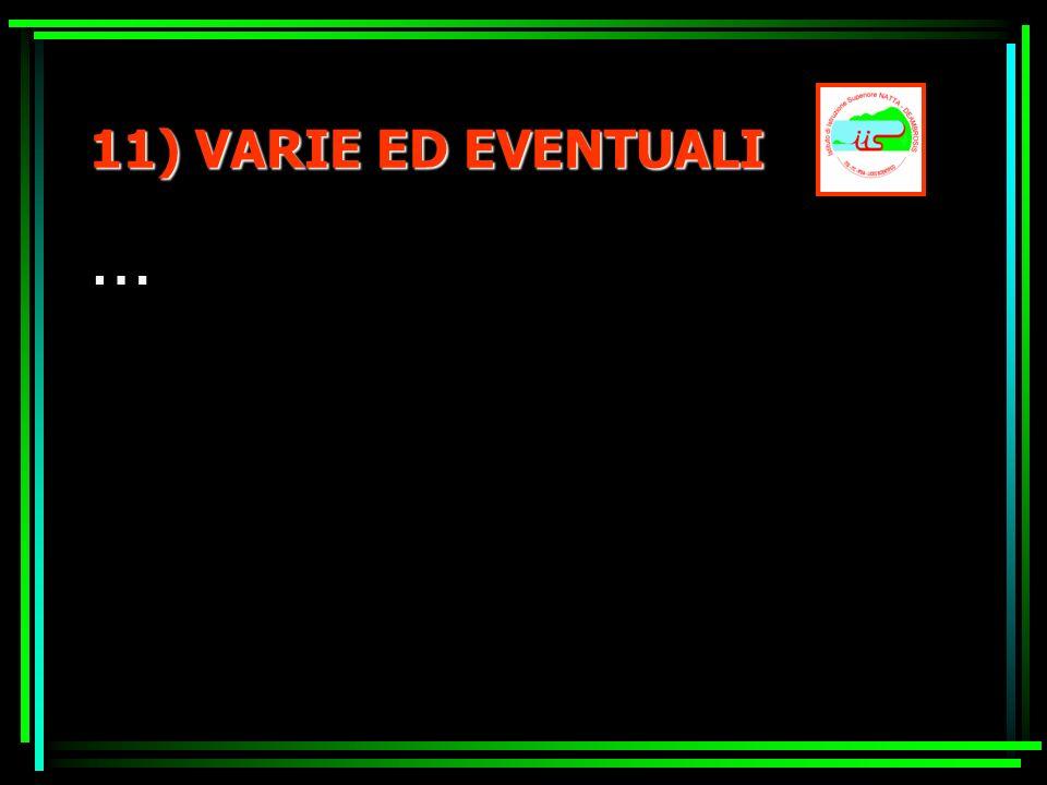 11) VARIE ED EVENTUALI …