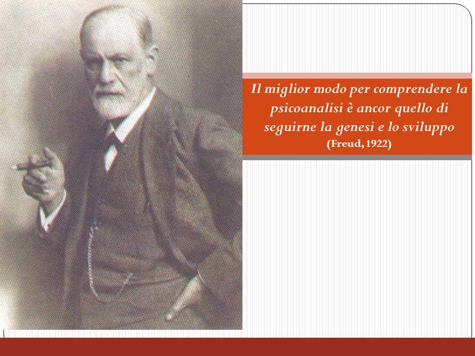 2 Freud e la psicoanalisi Il miglior modo per comprendere la psicoanalisi è ancor quello di seguirne la genesi e lo sviluppo (Freud, 1922)