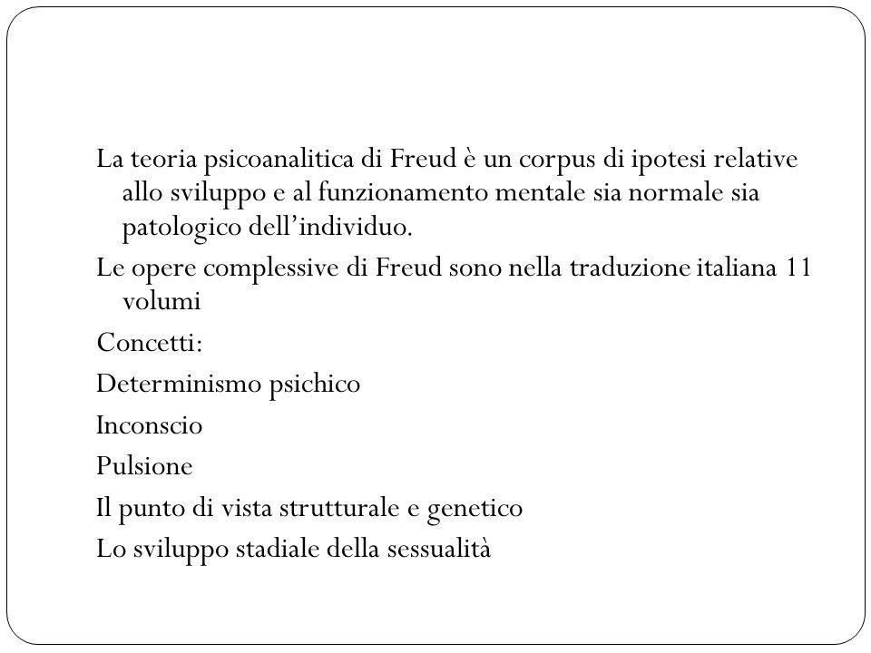 La teoria psicoanalitica di Freud è un corpus di ipotesi relative allo sviluppo e al funzionamento mentale sia normale sia patologico dellindividuo. L