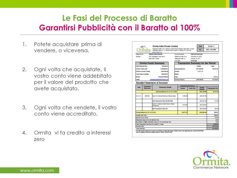 www.ormita.com 1.Potete acquistare prima di vendere, o viceversa.