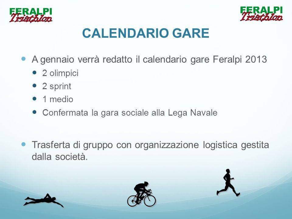 CALENDARIO GARE A gennaio verrà redatto il calendario gare Feralpi 2013 2 olimpici 2 sprint 1 medio Confermata la gara sociale alla Lega Navale Trasfe