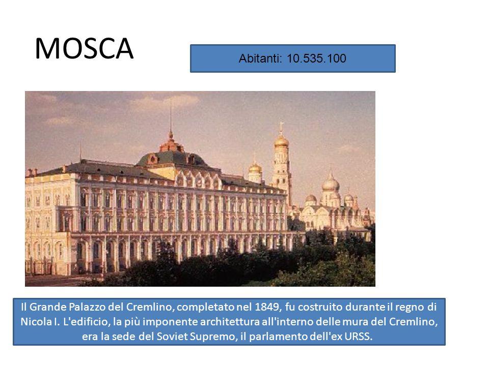 MOSCA Il Grande Palazzo del Cremlino, completato nel 1849, fu costruito durante il regno di Nicola I.