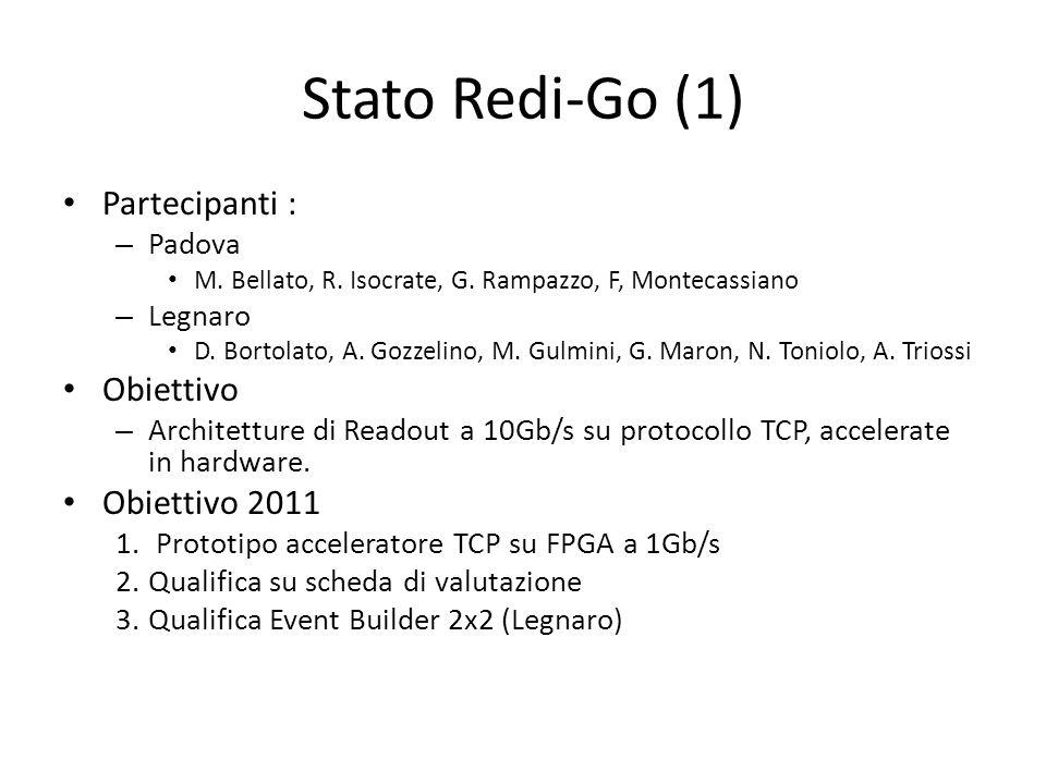 Stato Redi-Go (1) Partecipanti : – Padova M. Bellato, R. Isocrate, G. Rampazzo, F, Montecassiano – Legnaro D. Bortolato, A. Gozzelino, M. Gulmini, G.
