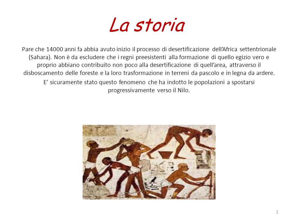 La storia Pare che 14000 anni fa abbia avuto inizio il processo di desertificazione dellAfrica settentrionale (Sahara). Non è da escludere che i regni