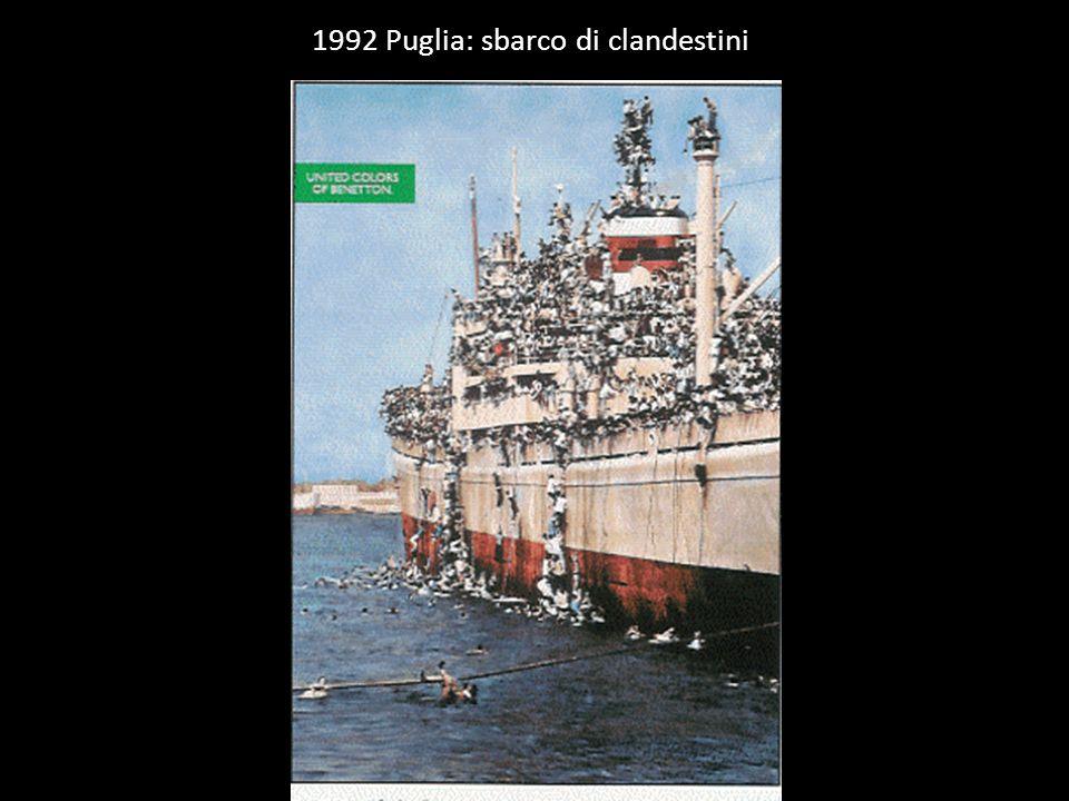 1992 Puglia: sbarco di clandestini