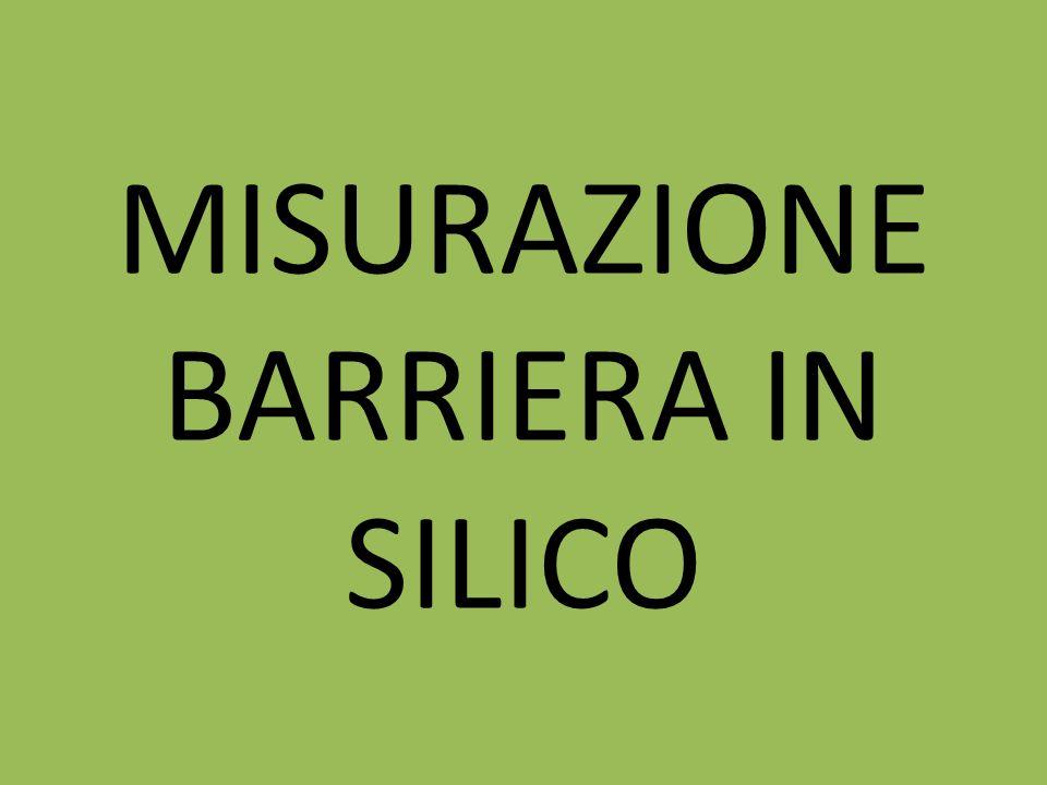 MISURAZIONE BARRIERA IN SILICO