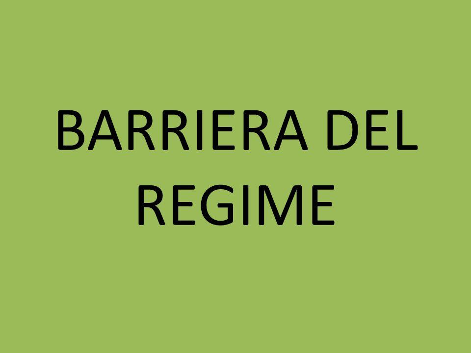 BARRIERA DEL REGIME