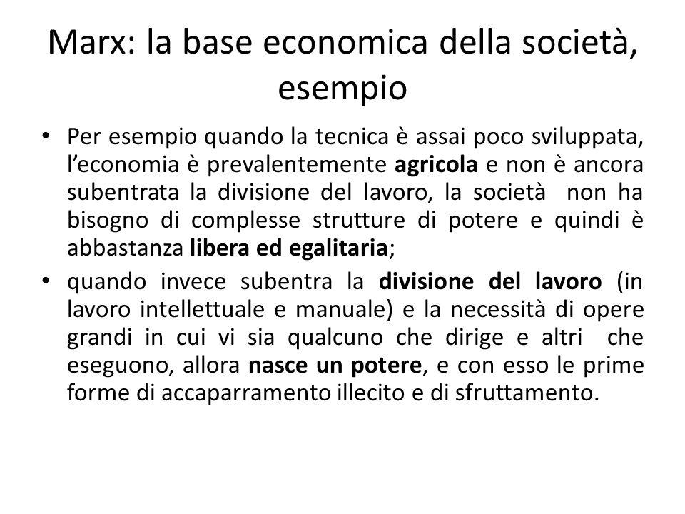 Marx: lo sviluppo delle società La storia è lo sviluppo delle varie strutture in relazione dialettica con le loro sovrastrutture.