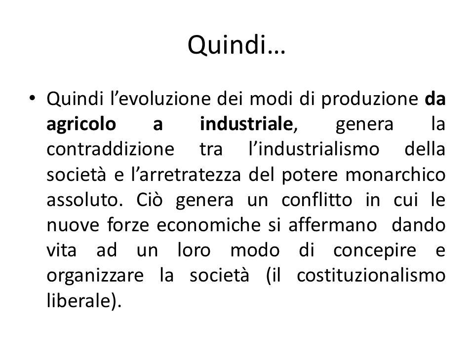 Un lotta di classi sociali Un determinato modo di produzione è sempre legato al dominio di una data classe sociale (gruppo di uomini che nella società hanno un ruolo simile e sono uniti da interessi economici convergenti).