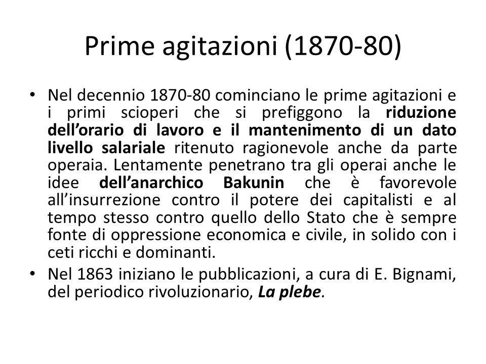 Prime organizzazioni politiche Nel 1882 viene fondato da A.