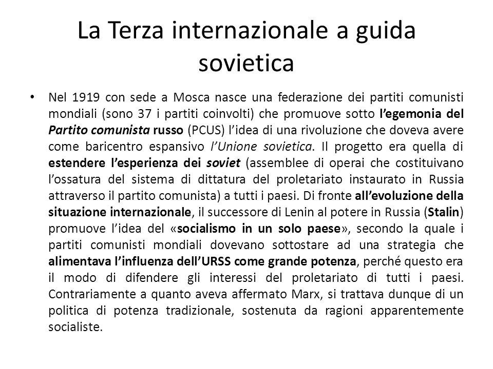 La Terza internazionale e i fascismi La Terza internazionale deve affrontare il problema dei fascismi, i più formidabili avversari dellavanzata bolscevica in Europa.