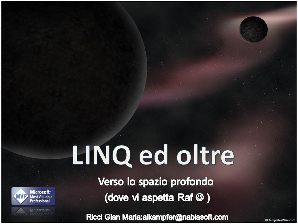 LINQ in un evento sul C# 4.0.