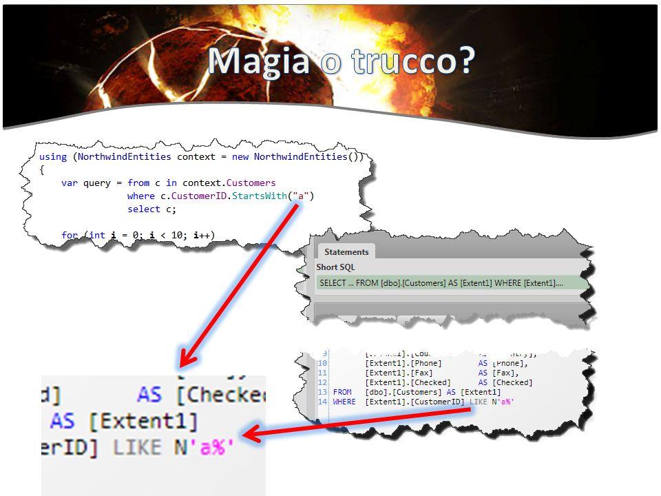 Questa «magia» accade perché il compilatore ha due modi distinti di rappresentare una lambda Funzione anonima Expression Tree: ovvero la rappresentazione dellespressione con oggetti.NET organizzati in un normale «expression tree»