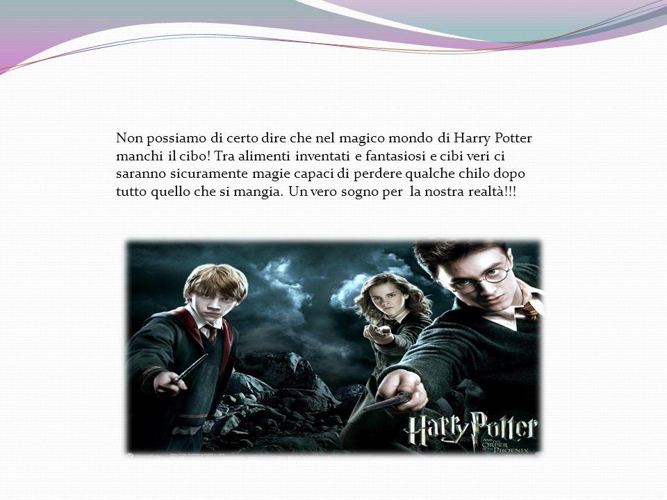 Non possiamo di certo dire che nel magico mondo di Harry Potter manchi il cibo! Tra alimenti inventati e fantasiosi e cibi veri ci saranno sicuramente