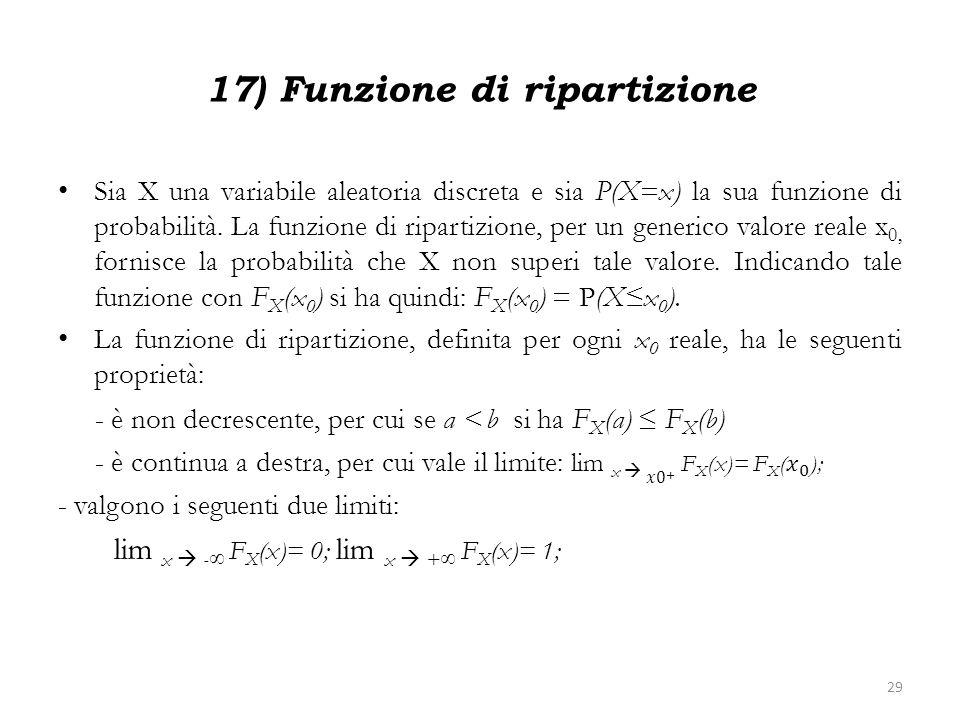 17) Funzione di ripartizione 29
