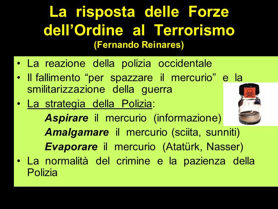 La risposta delle Forze dellOrdine al Terrorismo (Fernando Reinares) La reazione della polizia occidentale Il fallimento per spazzare il mercurio e la