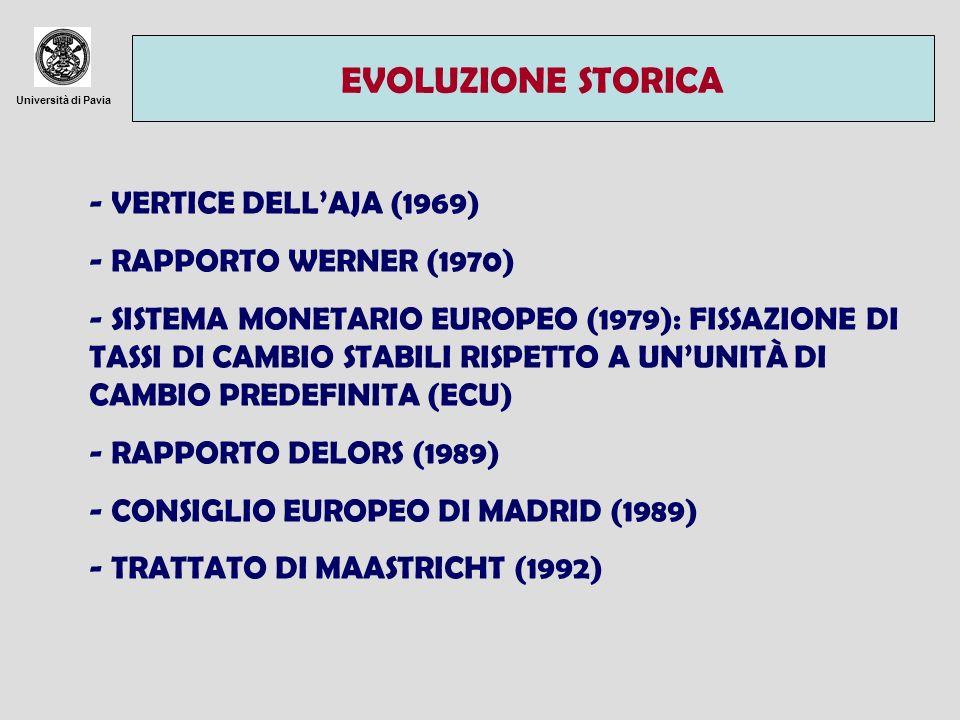 Università di Pavia CARATTERISTICHE GENERALI DELLUEM NON È INSERITA IN UN PILASTRO SEPARATO ED È DUNQUE SOGGETTA AL METODO COMUNITARIO.