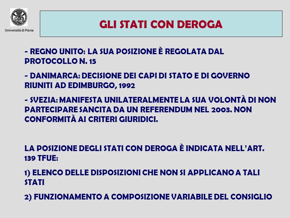 Università di Pavia LA BCE: PRINCIPI GENERALI TRATTATI + PROTOCOLLO SULLO STATUTO DI BCE E SEBC CON LISBONA LA BCE È INSERITA ALLART.
