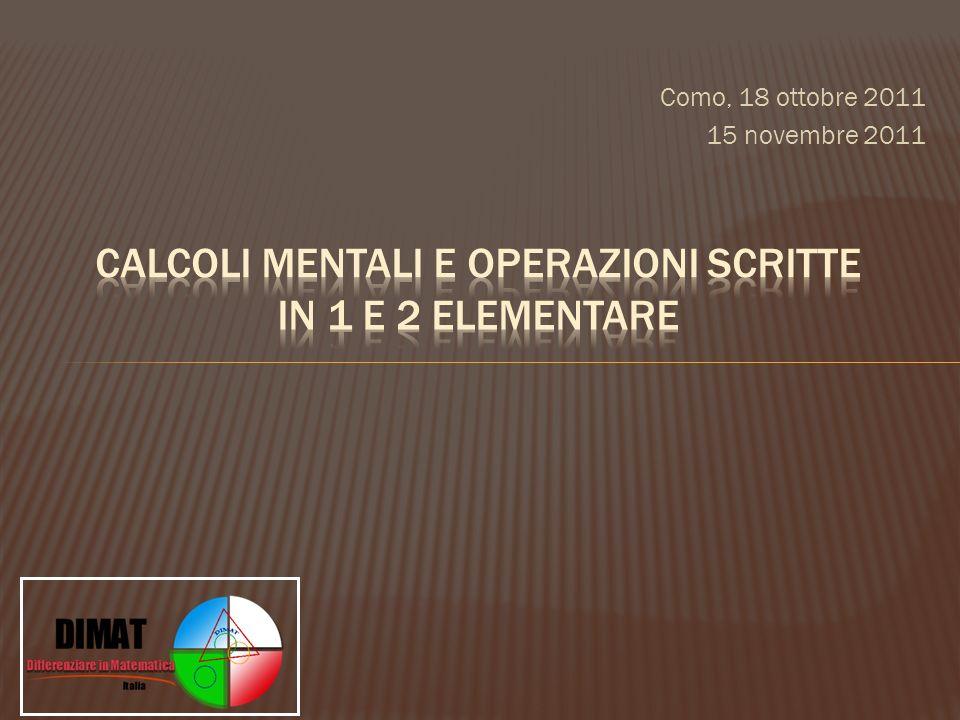 Como, 18 ottobre 2011 15 novembre 2011