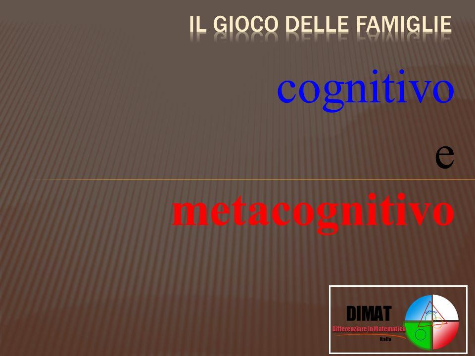 cognitivo e metacognitivo