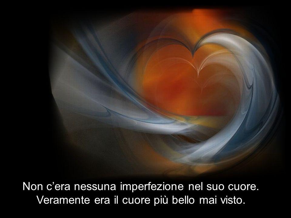 Tutti guardavano meravigliati il suo cuore, perchè era veramente perfetto….