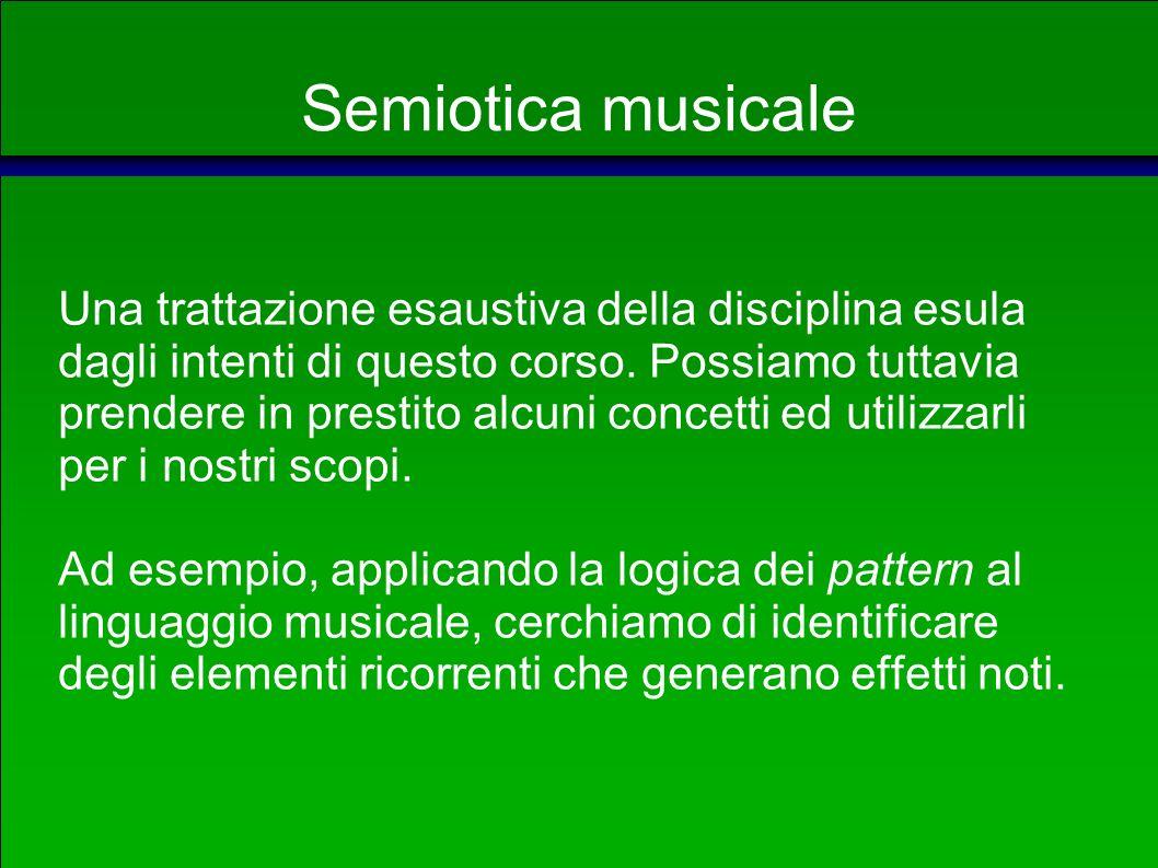 Semiotica musicale Cosa cambia rispetto al linguaggio verbale.