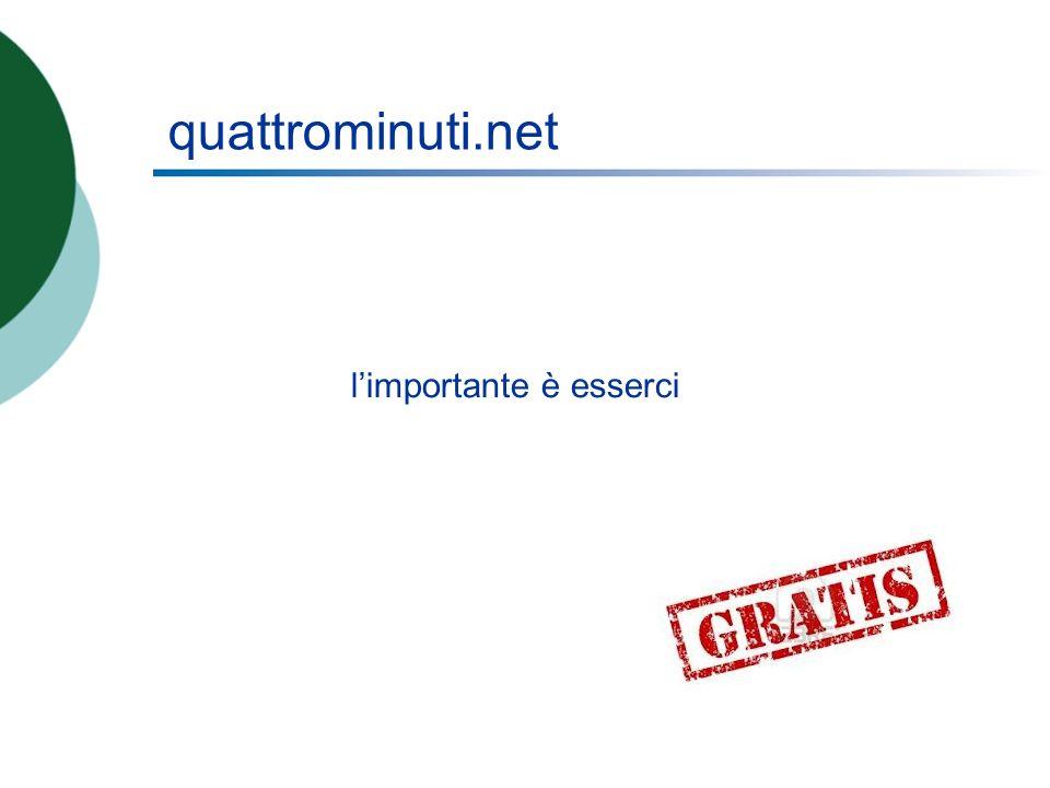 quattrominuti.net limportante è esserci
