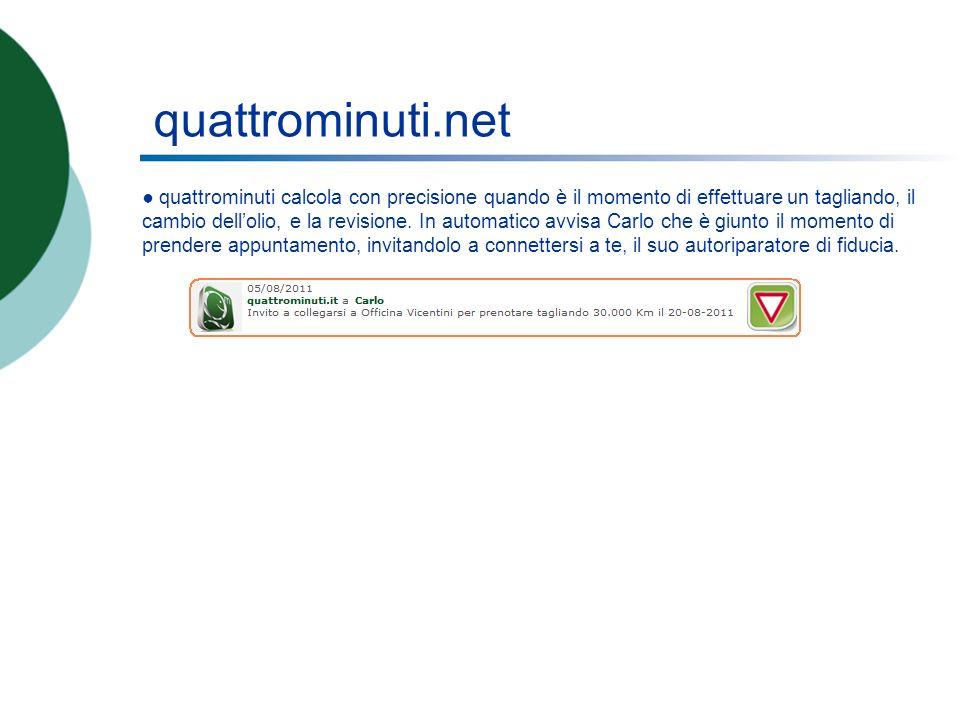quattrominuti.net quattrominuti calcola con precisione quando è il momento di effettuare un tagliando, il cambio dellolio, e la revisione.