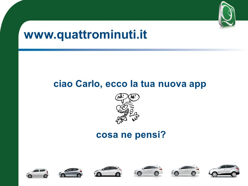 www.quattrominuti.it ciao Carlo, ecco la tua nuova app cosa ne pensi?