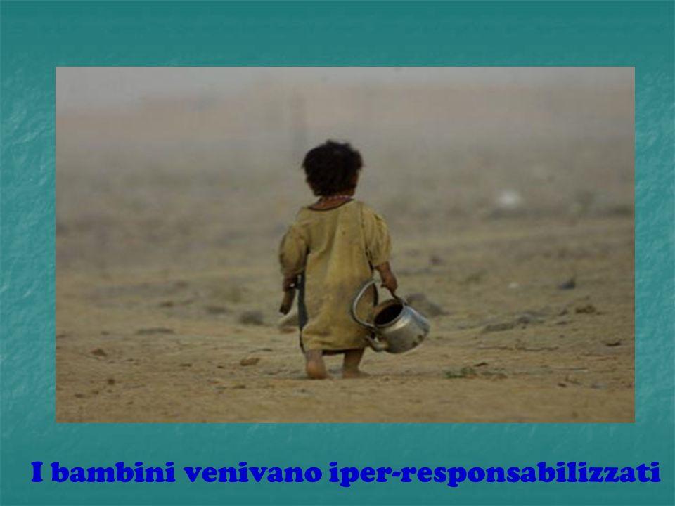 I bambini venivano iper-responsabilizzati