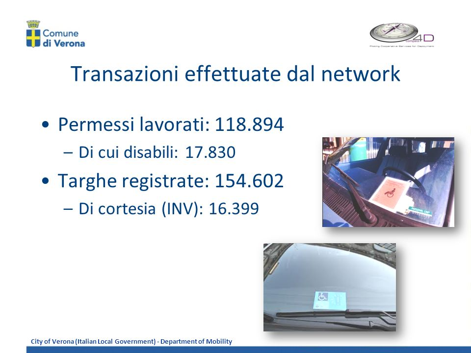 City of Verona (Italian Local Government) - Department of Mobility Integrazioni sistemiche Alimentazione targhe autorizzate in ZTL Oracle