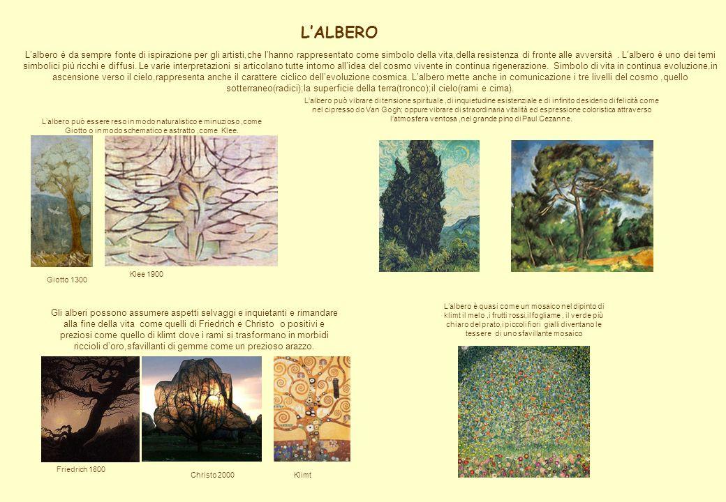 LALBERO Lalbero è da sempre fonte di ispirazione per gli artisti,che lhanno rappresentato come simbolo della vita,della resistenza di fronte alle avve