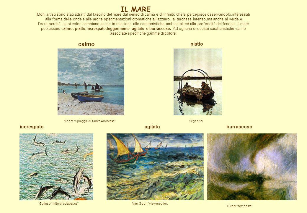 IL MARE Molti artisti sono stati attratti dal fascino del mare dal senso di calma e di infinito che si percepisce osservandolo,interessati alla forma
