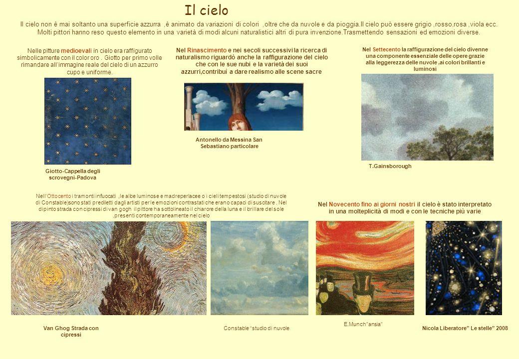 Il cielo E.Munchansia Constable studio di nuvole Il cielo non è mai soltanto una superficie azzurra,è animato da variazioni di colori,oltre che da nuv