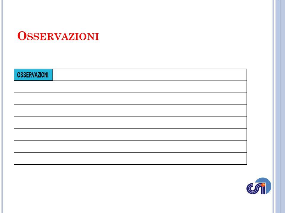 Il riquadro OSSERVAZIONI posto al centro in basso sotto quello denominato SET 5, è lo spazio da utilizzare per ogni annotazione che non è possibile riportare specificatamente negli altri riquadri del referto.