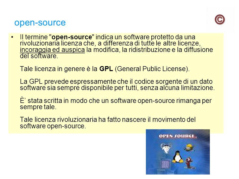 GPL Ecco alcuni passi della GPL: - Le licenze della maggior parte dei programmi hanno lo scopo di togliere all utente la libertà di condividere e modificare il programma stesso.