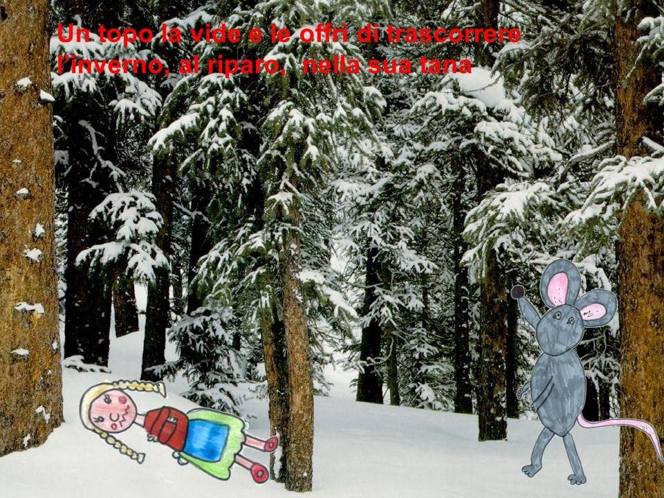 Un topo la vide e le offrì di trascorrere linverno, al riparo, nella sua tana
