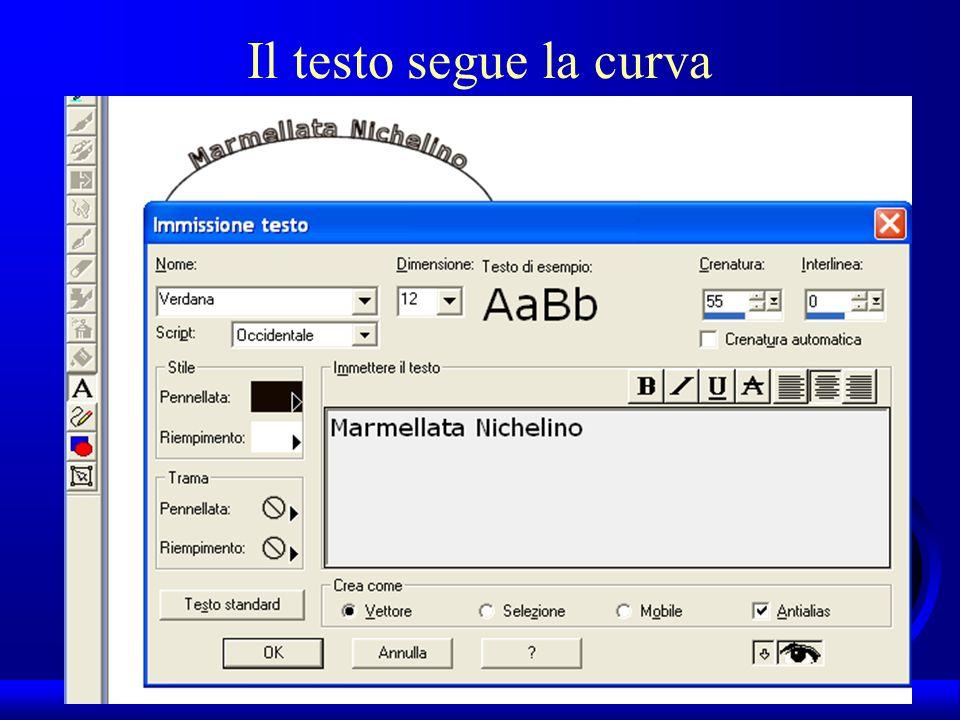 UNI3 – Nichelino – Corso PSP Il testo segue la curva