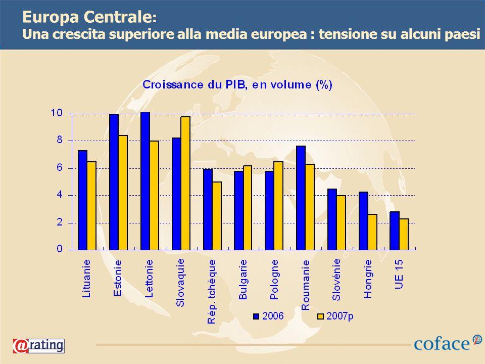 22 Europa Centrale : Una crescita superiore alla media europea : tensione su alcuni paesi
