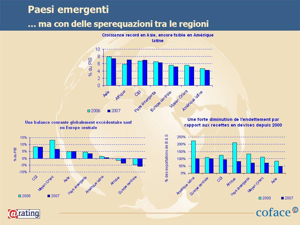 25 Paesi emergenti … ma con delle sperequazioni tra le regioni