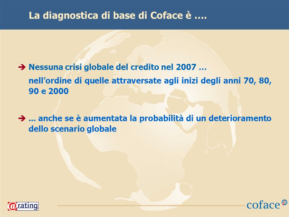 39 La diagnostica di base di Coface è ….