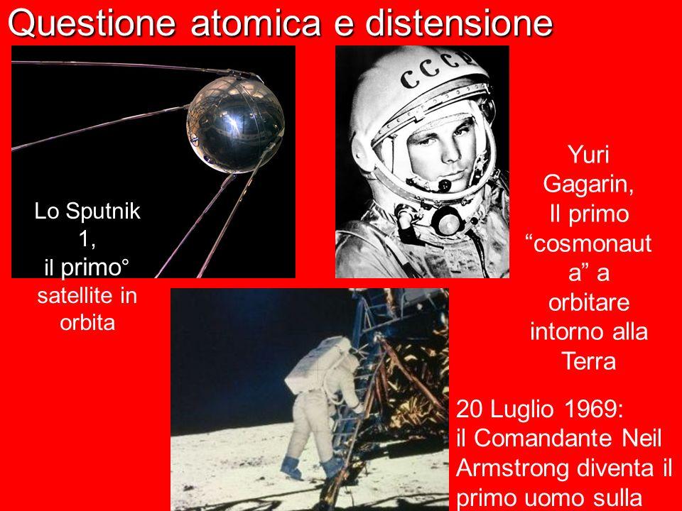 Questione atomica e distensione Lo Sputnik 1, il primo ° satellite in orbita Yuri Gagarin, Il primo cosmonaut a a orbitare intorno alla Terra 20 Lugli