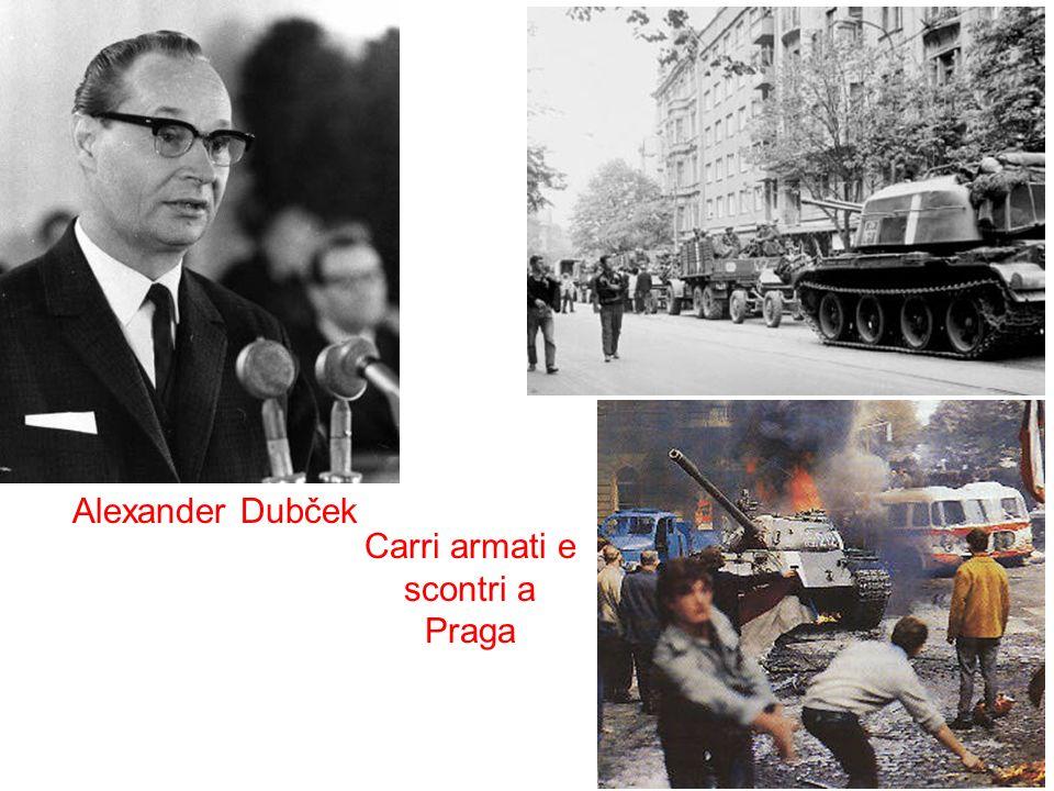 Alexander Dubček Carri armati e scontri a Praga